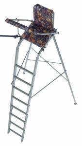 Foldable high seat, free stand, alu