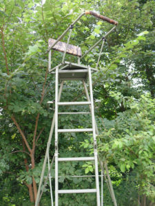 High seat for hunting, turnable, alu